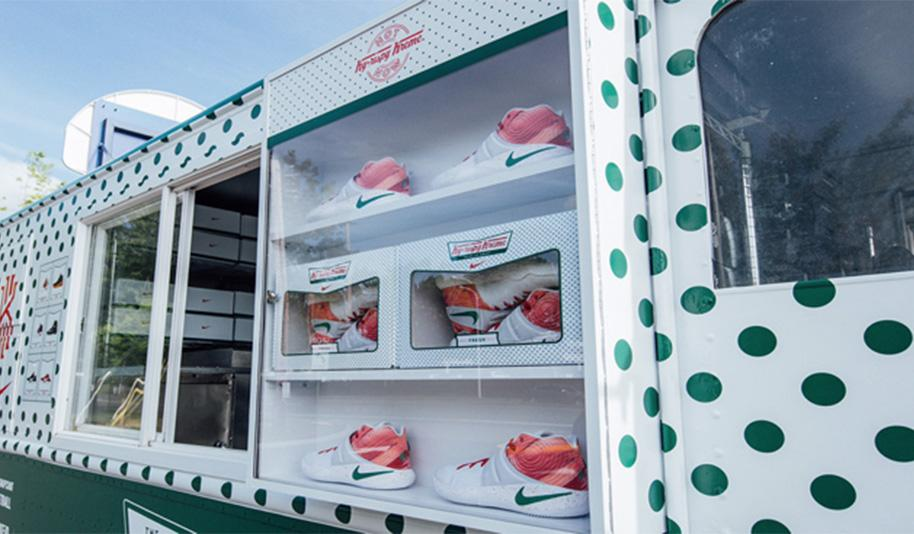 Kyrie Irving Nike/Krispy Kreme Shoes (Image by AdWeek)